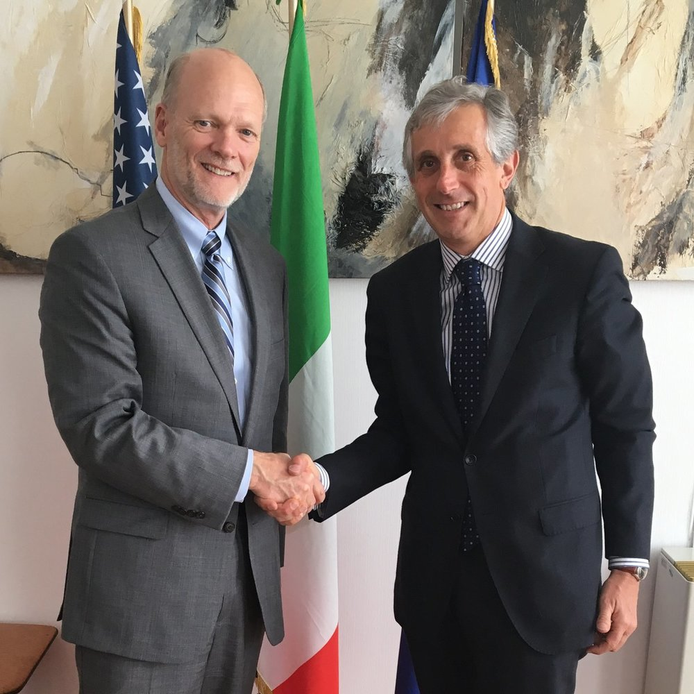 4.10.18 - Ken Isaacs met with Luigi Maria Vignali, Director General for Italian Citizens Abroad and Migration Policies, to discuss migration.