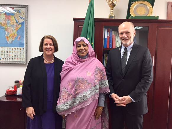 4.5.18 - Ken Isaacs met with U.S. Ambassador to Ethiopia, Mary Beth Leonard, and H.E. Amira El Fadil, the African Union Social Affairs Commissioner, while visiting the U.S. Embassy in Addis Ababa.