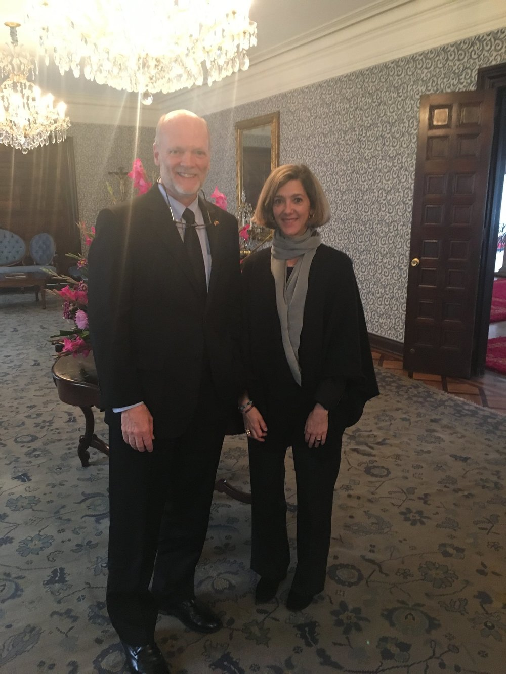 5.11.18 - Ken Isaacs met with Colombia's Vice Foreign Minister, Patti London, to discuss migration challenges and solutions in Colombia.