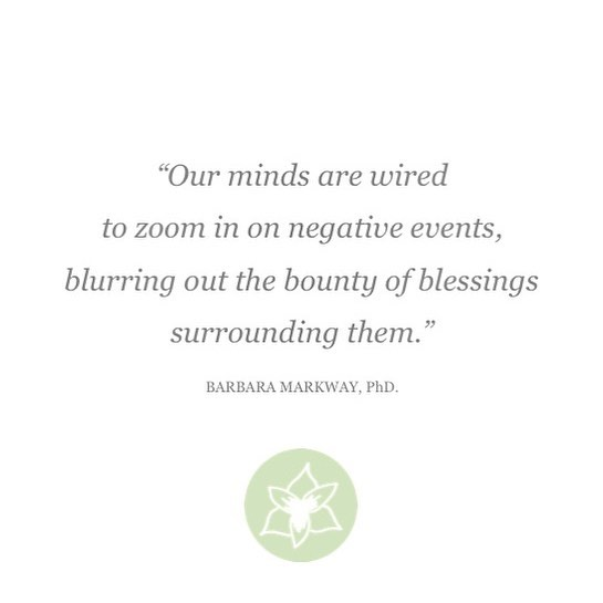 In the bounty of blessings that surround us we can often find the love, wisdom, and resources we need to help us get out from under the weight of our negative events and experiences.