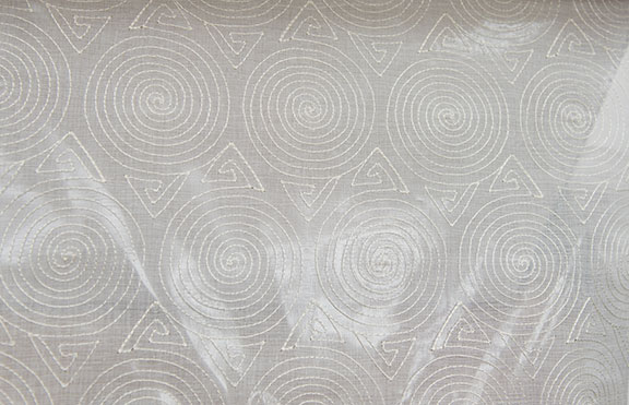 "CONE  IVORY        100% POLYESTER                                 110"" WIDE - WASHABLE                                 EMBROIDERY  SHEER"