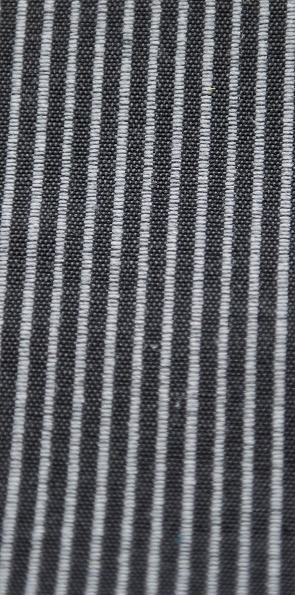 "MANU 7 BLACK  65%COTTON/35%POLY  UPHOLSTERY                 54"" WIDE           WASHABLE                                    MADE IN ITALY"