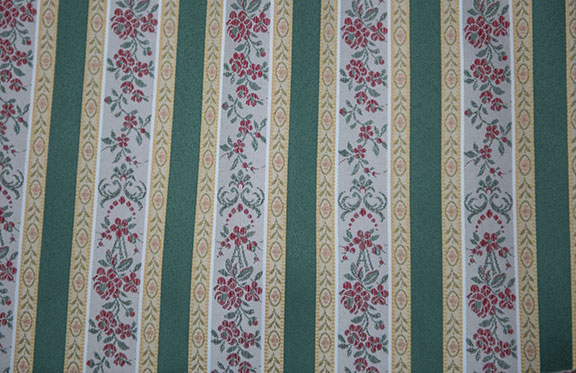 "LESSIRE   D. GREEN       100% POLYESTER                                           108"" WIDE - WASHABLE                                          DECORATION & DRAPERY                                                   MADE IN ITALY"
