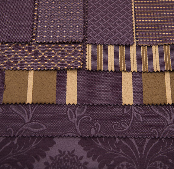 "DECOR    EGGPLANT       60% COTTON/ 40 POLYESTER                                              108"" or 54"" WIDE                                        UPHOLSTERY & DRAPERY                                               MADE IN ITALY"
