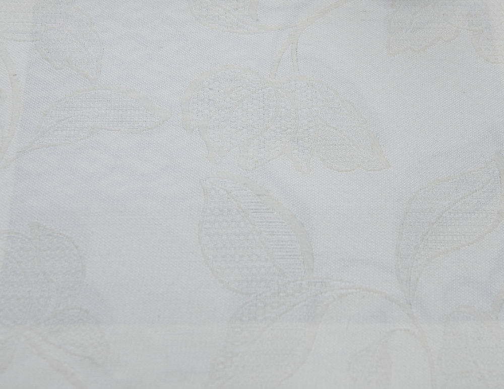 "GLAMOUR IVORY 60%COTTON/40% POLY  108"" WIDE WASHABLE  MADE IN ITALY  TABLECLOTH,BED COVER, CURTAIN ,UPHOLSTERY"