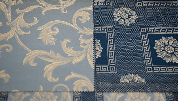 "VENICE     BLUE    55%COTTON 45% POLY  108"" WIDE                    WASHABLE  MADE IN ITALY  SOFA,  TABLECLOTH, DRAPERY  , SLEEPCOVER & DECO"