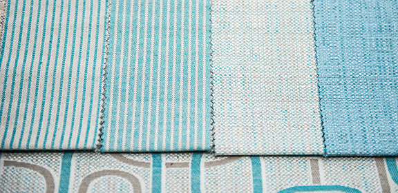 "MANU AQUA  65%COTTON/35%POLY  54"" WIDE WASHABLE  MADE IN ITALY  UPHOLSTERY , PILLOW, WINDOW SHADE"