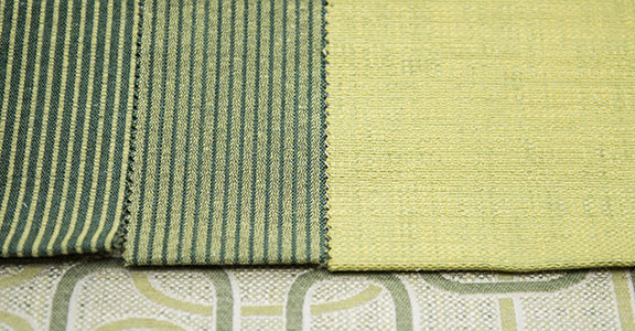 "MANU GREEN - 65%COTTON/35%POLY  54"" WIDE WASHABLE  MADE IN ITALY  UPHOLSTERY , PILLOW, WINDOW SHADE"