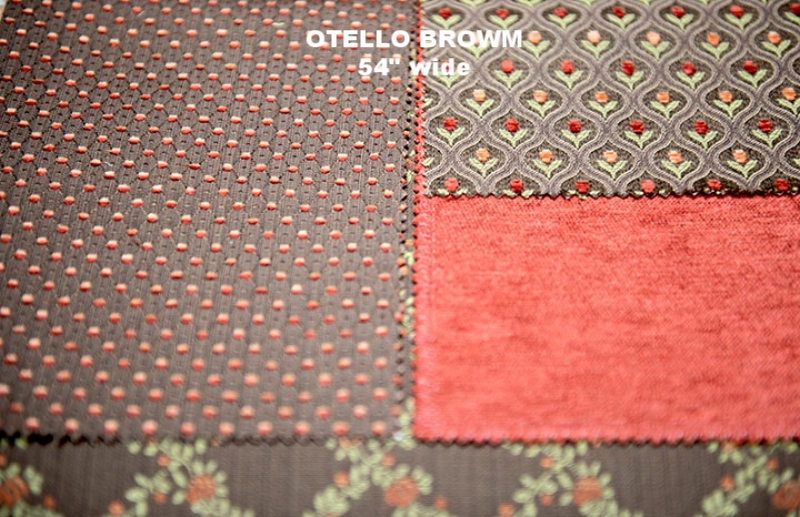 "Othelo Brown 60% Cotton/40% Poly  54"" WIDE  , UPHOLSTERY  IMADE IN ITALY"