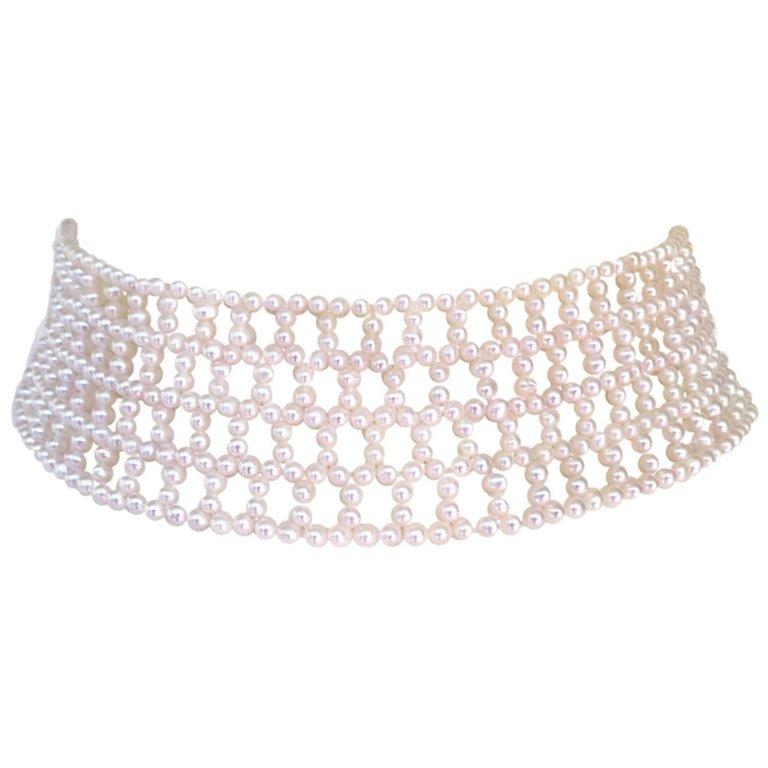 Wide Woven Pearl Choker 1.jpeg