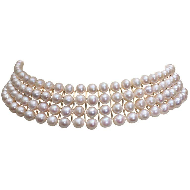 White Pearl Choker w Gold Bars 1.jpeg
