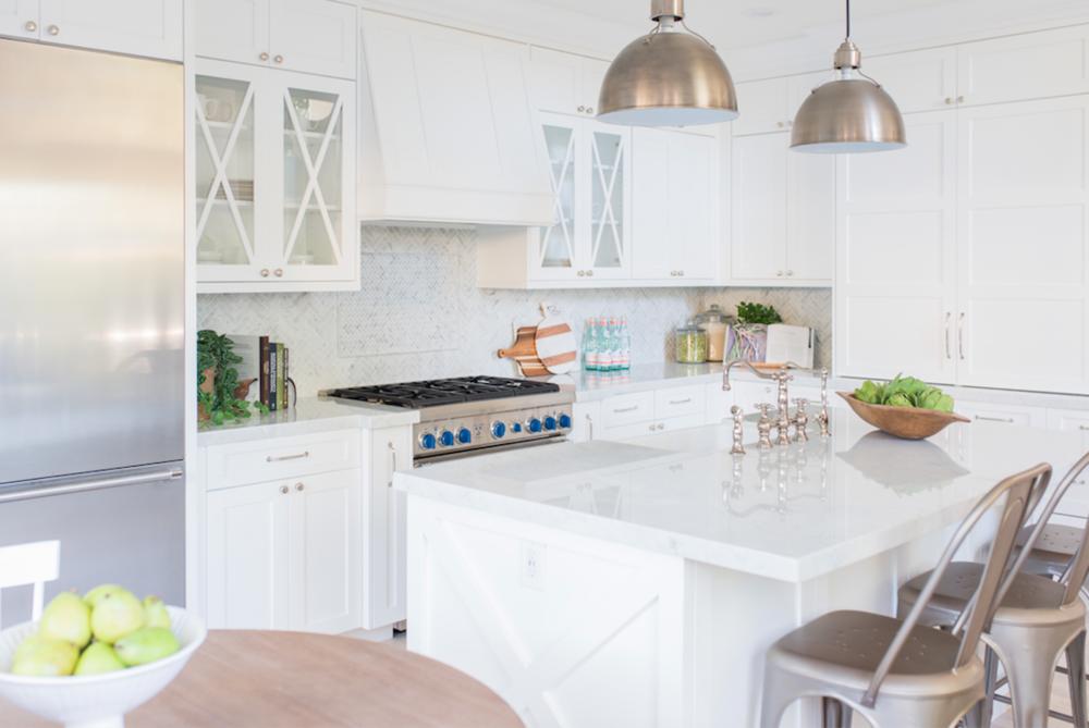 Design: Pure Salt Interiors, Photography: Steph Anderson Countertops: Carrara Marble