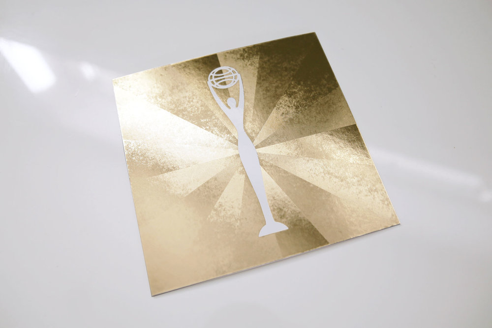 Clio Awards  \\ Put the Clio Awards in the spotlight with this refractive foil invitation.