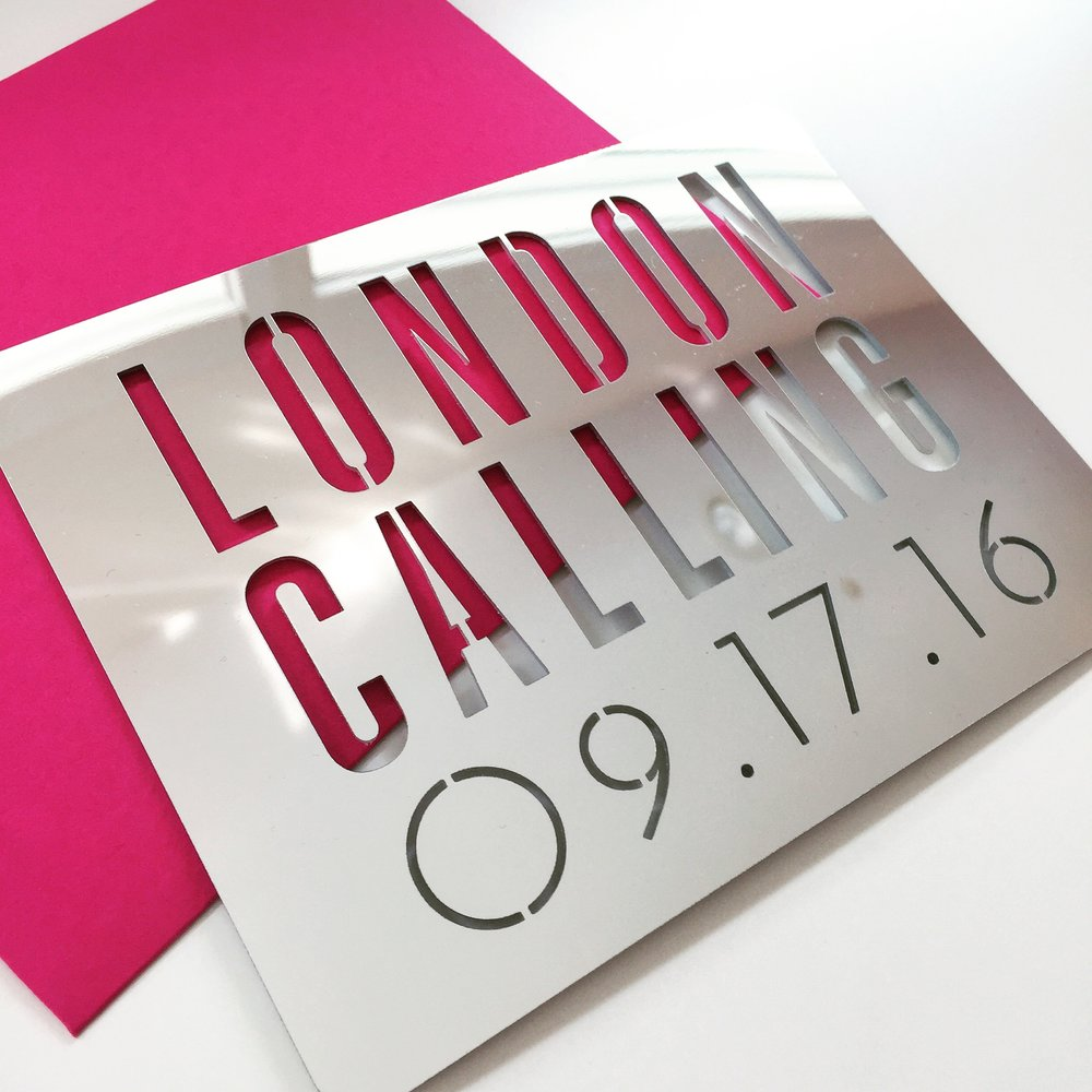 London  \\ London calling. Save the date for one decidedly cool young lady.