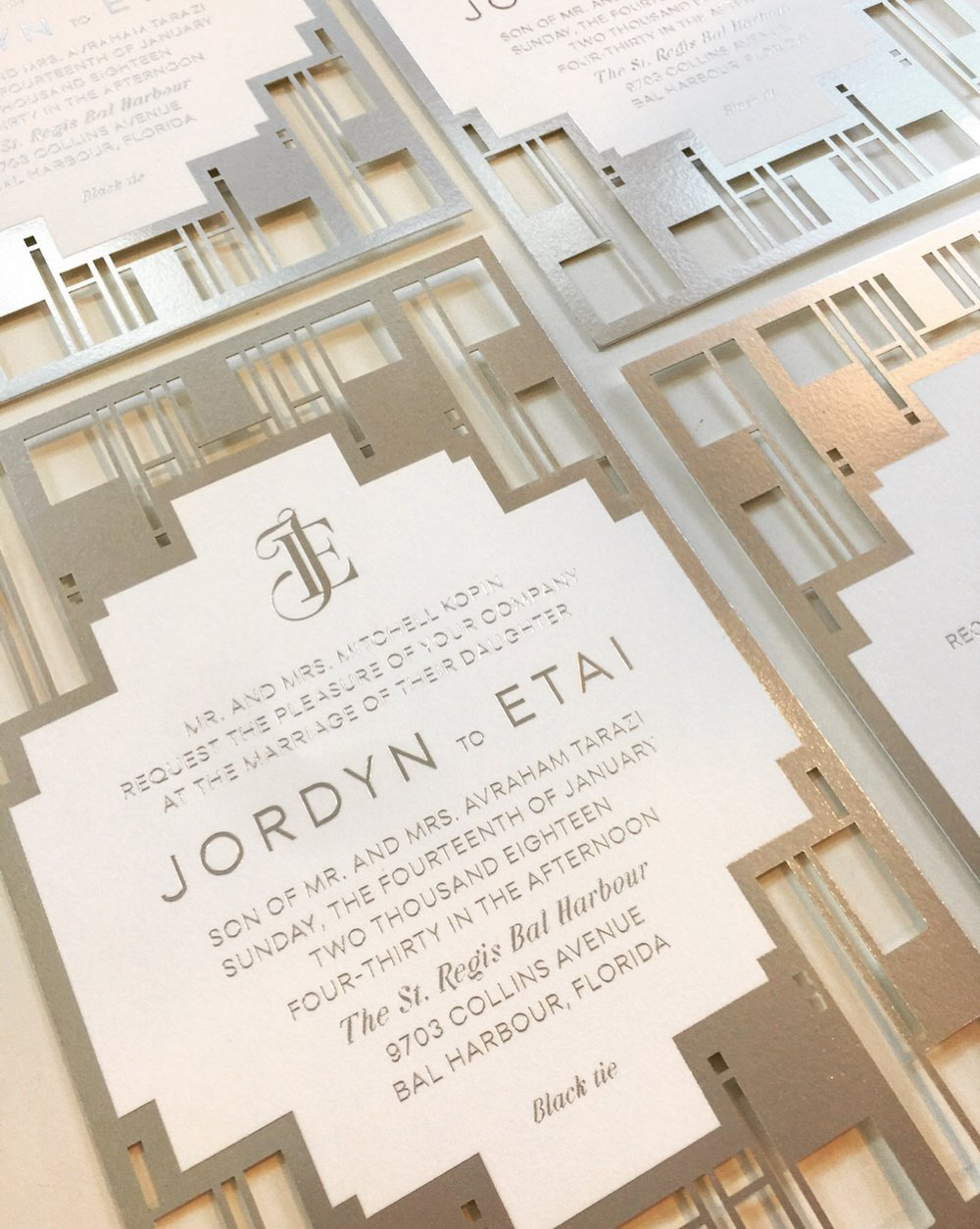 Jordyn & Etai  \\ See what inspired the design of Jordyn and Etai's wedding invitations ...the iconic St. Regis Bal Harbour entrance! Congratulations on tying the knot yesterday you two.