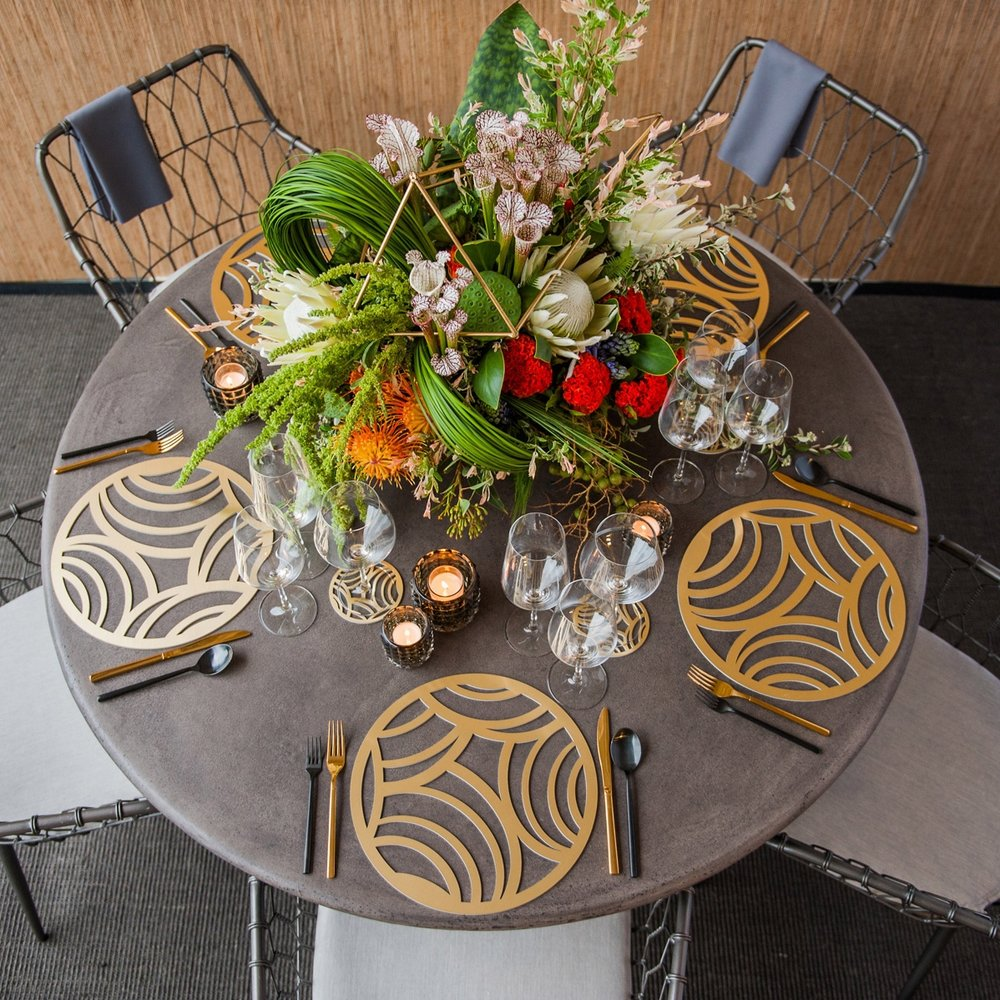 Affinity Chroma Placemat  \\ Styled by Rishi Patel & Nick Watts, HMR Designs, Photo by Cindy Fandl Photography