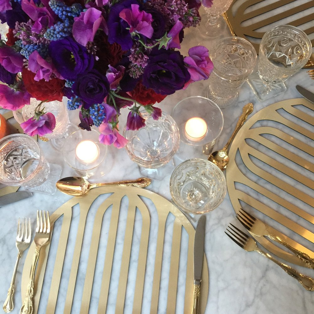 Concord Chroma Placemat \\ Styled by Belle Fleur New York, Photo by Alicia Swedenborg Photography