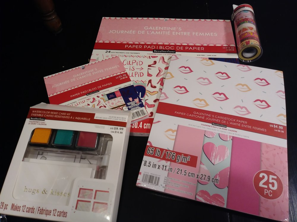 Total $16.75 - Paper pad $5.99Card stock $1.49Mini paper pad $1.79Washi $4.49Kit $2.99