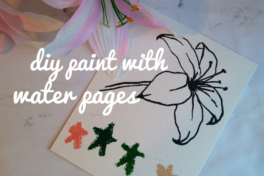 DIY: Paint with Water Coloring Book — Cornerstone Create