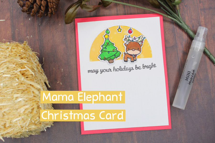 Christmas Cards with Mama Elephant — Cornerstone Create