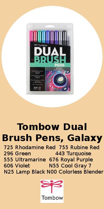 Tombow Dual Brush Pens, Galaxy.jpg