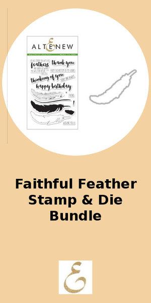 Altenew Faithful Feather Stamp & Die Bundle