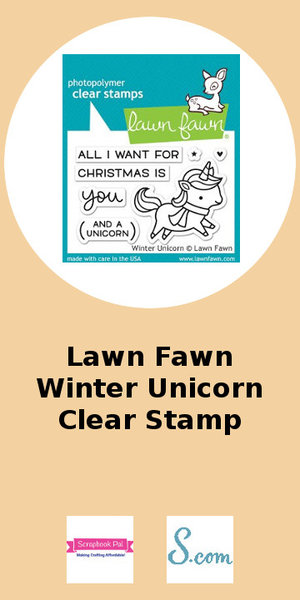 Lawn Fawn Winter Unicorn Clear Stamp