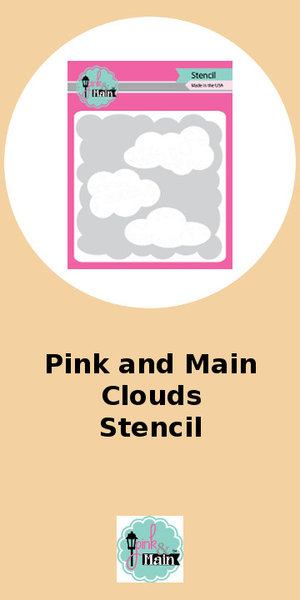 Pink and Main Clouds Stencil
