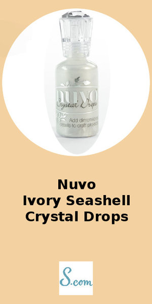 Nuvo Ivory Seashell Crystal Drops