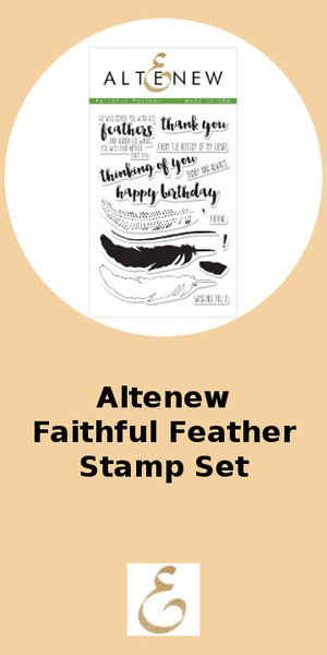 Altenew Faithful Feather Stamp Set