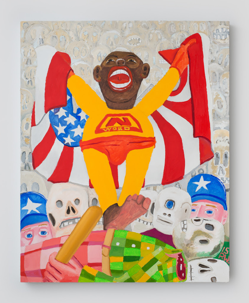 Peter Williams.  The Adventures...( from the N-Word Series), 2015, Oil on canvas, 30 x 24 inches