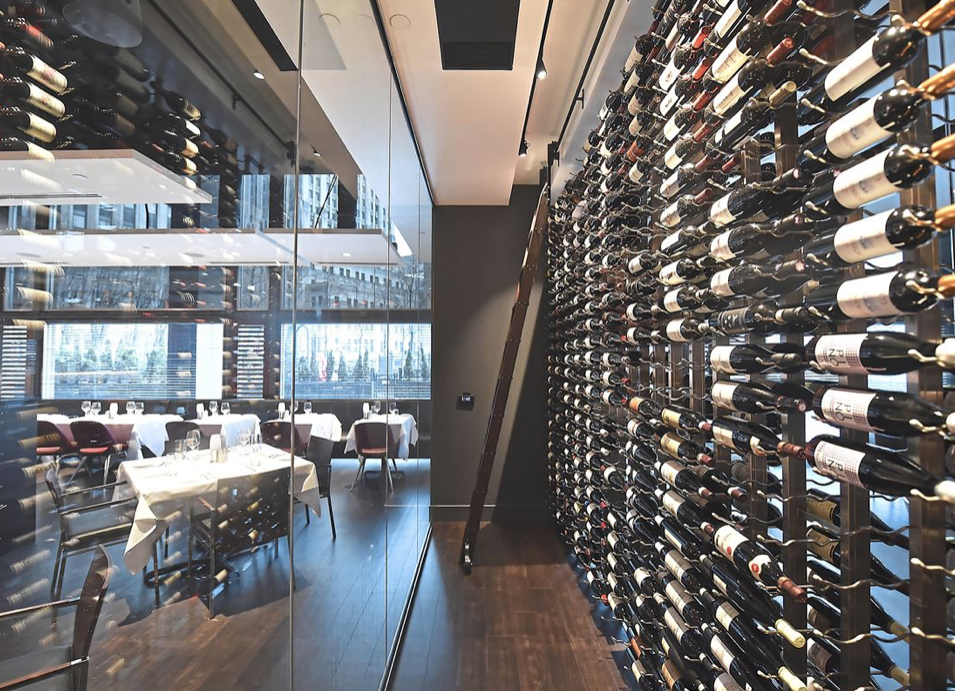 RED THE STEAKHOUSE WINE STORAGE by Peter Diana