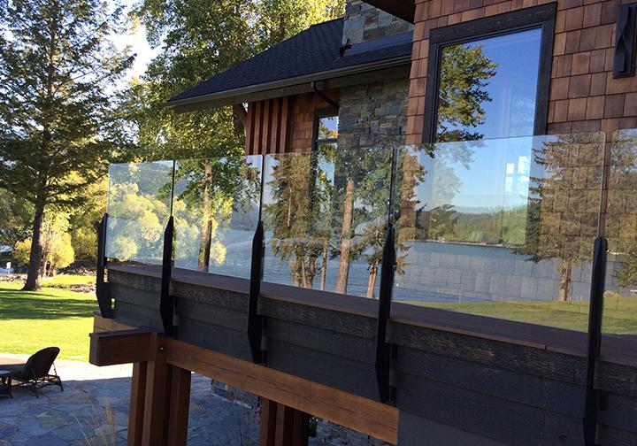 Custom Glass Rail -