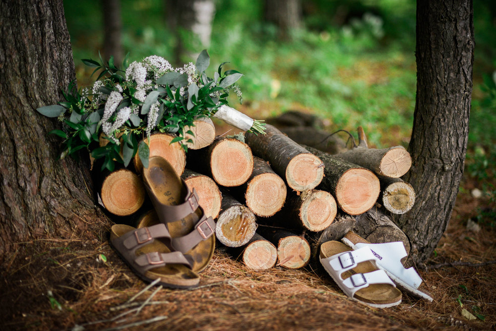 Birkenstocks for wedding shoes!