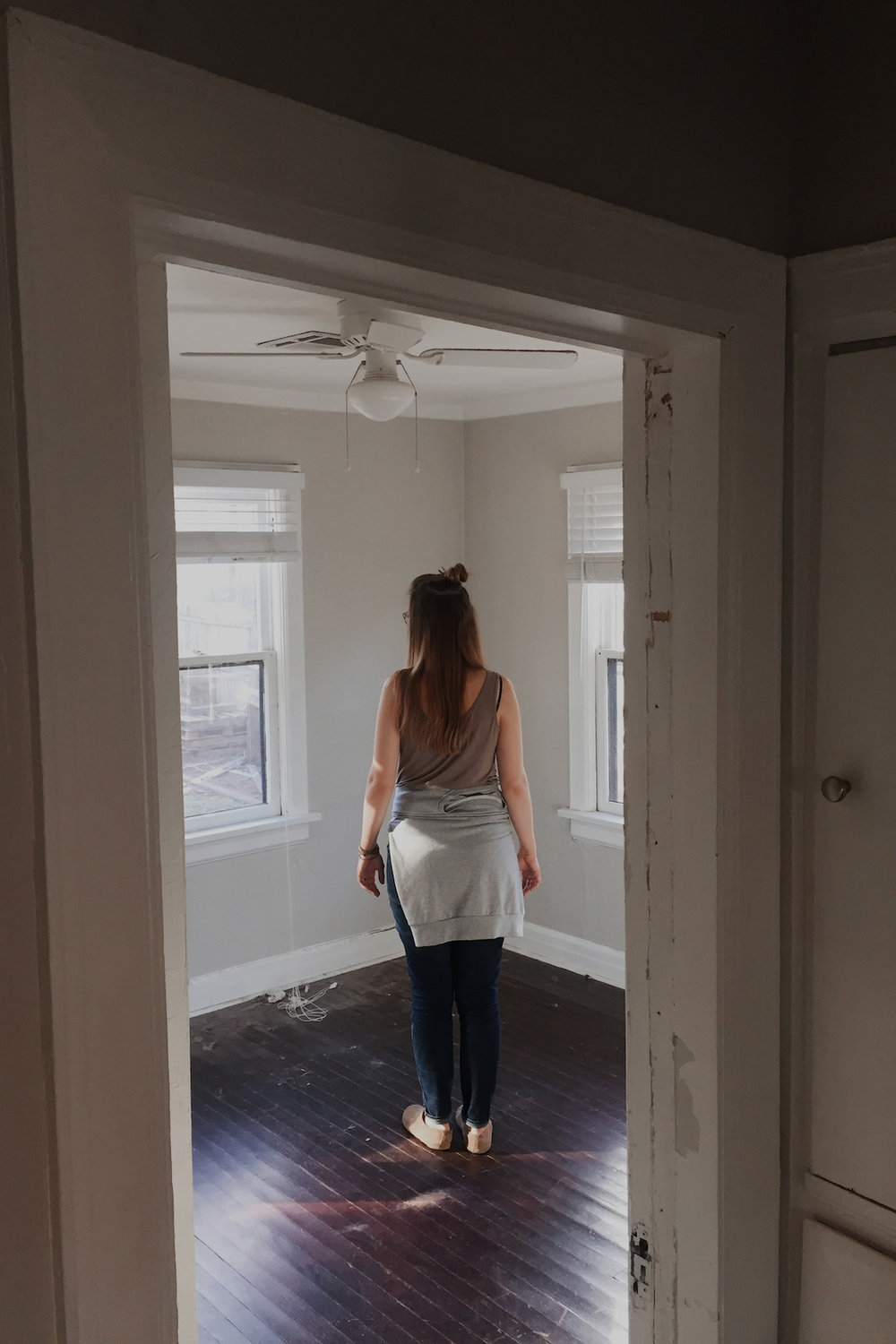Standing in our empty house--it was so hard to leave that place
