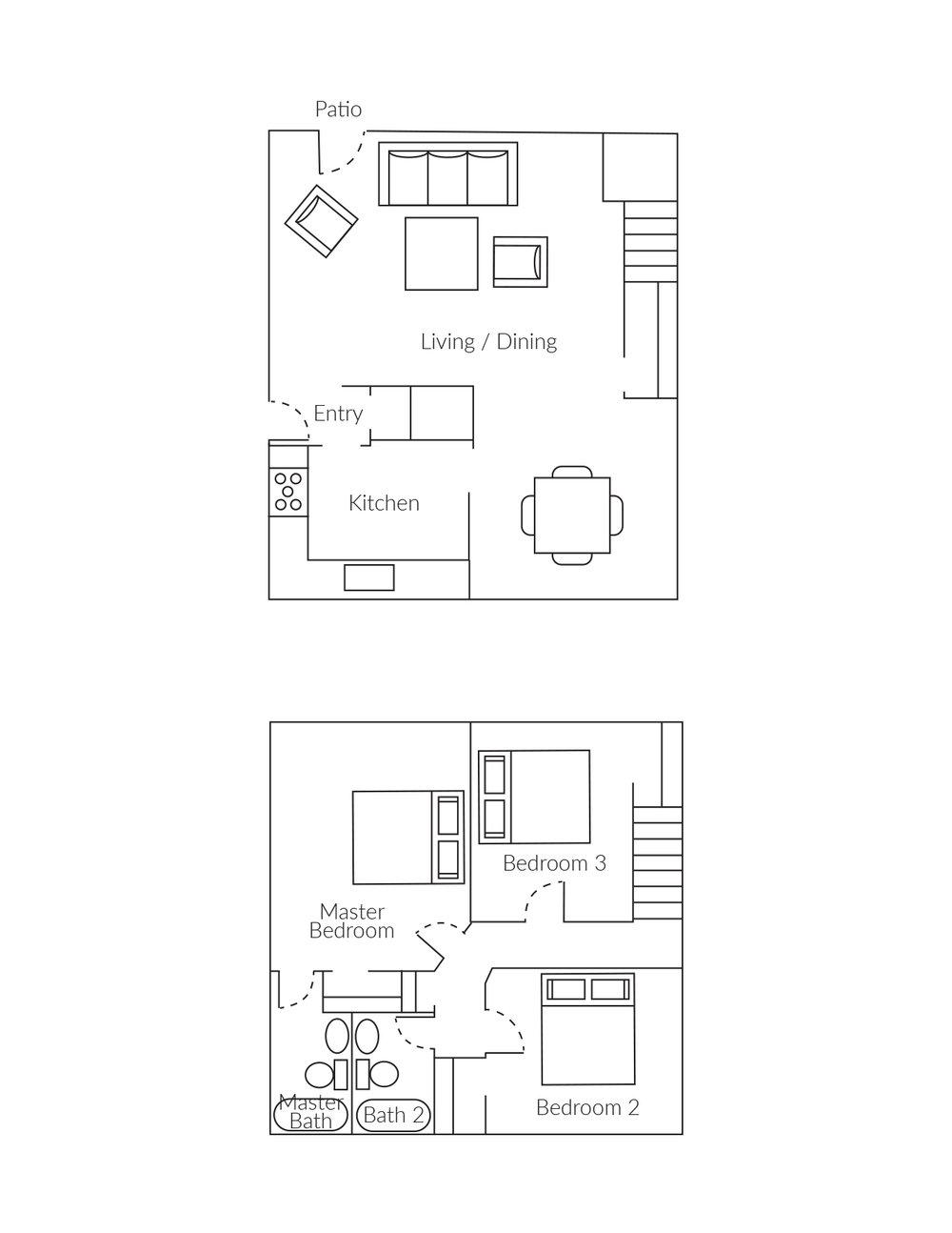 3 bedroom, 3 bathroom townhome