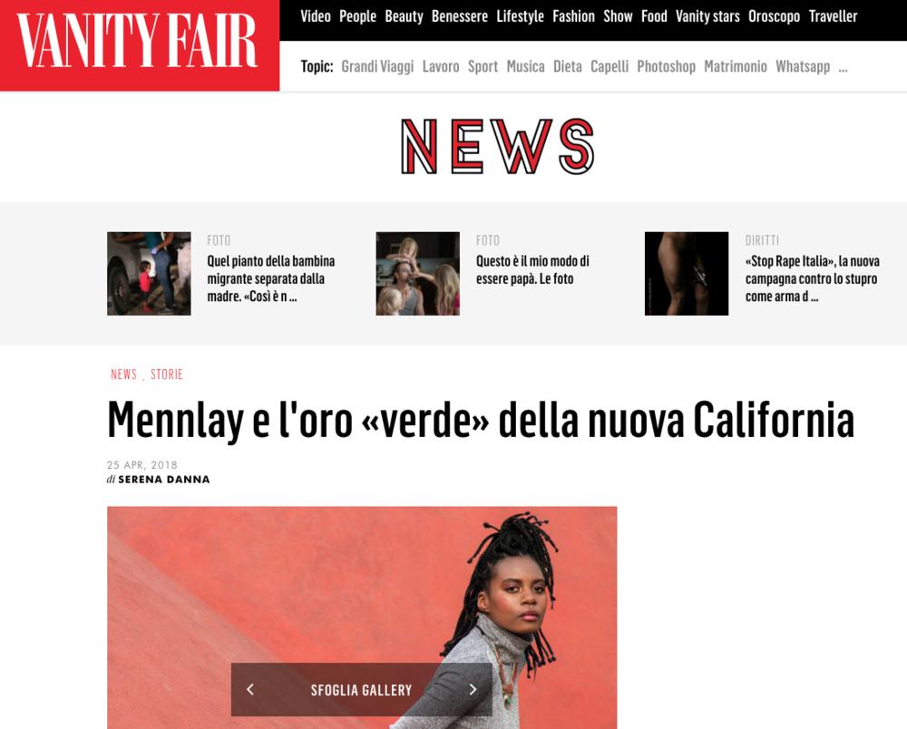 Vanity Fair Italy Feature