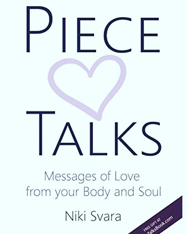 My wife has just published her first book. They are wonderfully creative, heart-felt, and poignant messages written from different body parts, with compassionate care. This unique & creative book speaks to the essence of ourSelves through our Soul.  I'm so very proud to be a part of this journey, and now the world gets to experience her loving kindness and deep devotion to help heal.  It is currently available through Amazon at www.PieceTalksBook.com
