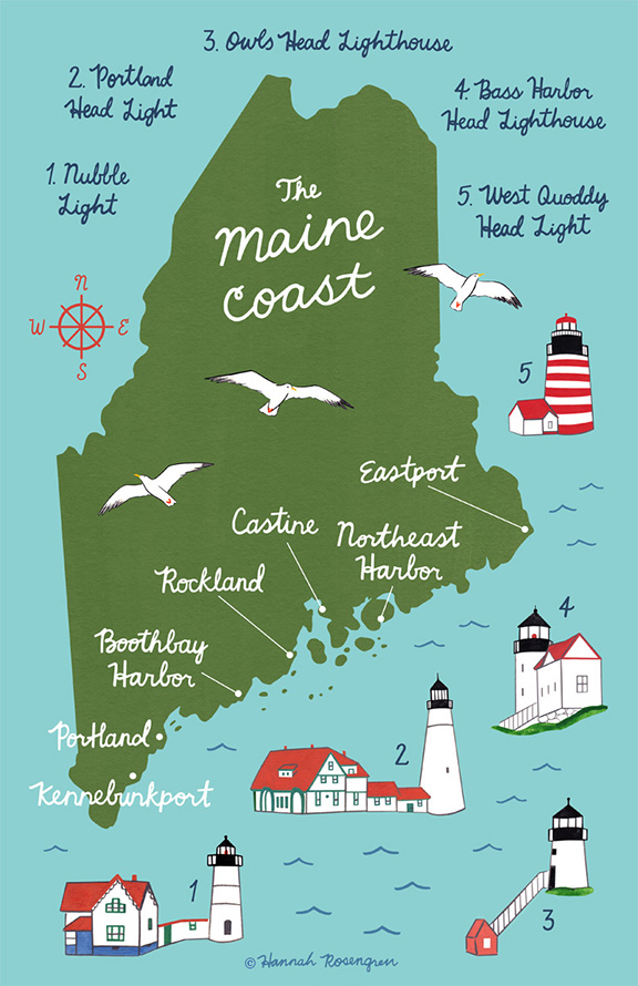 Map of the Maine Coast — Hannah Rosengren Studio