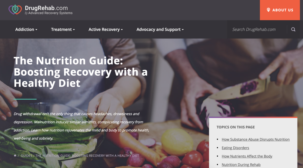 Substance abuse and mental health:  Boosting recovery with a healthy diet , via @ Drug Rehab