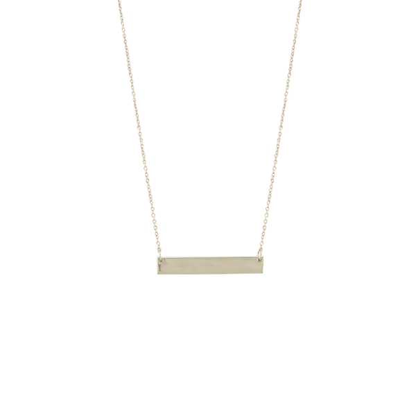 "Kelly Waters Gold Finish Bar Necklace on 18"" - 20"" Adjustable Chain"