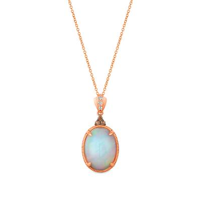 Le Vian 14K Strawberry Gold® Neopolitan Opal™ 5 1/2 cts. Pendant with Nude Diamonds™ 1/20 cts., Chocolate Diamonds® 1/15 cts.