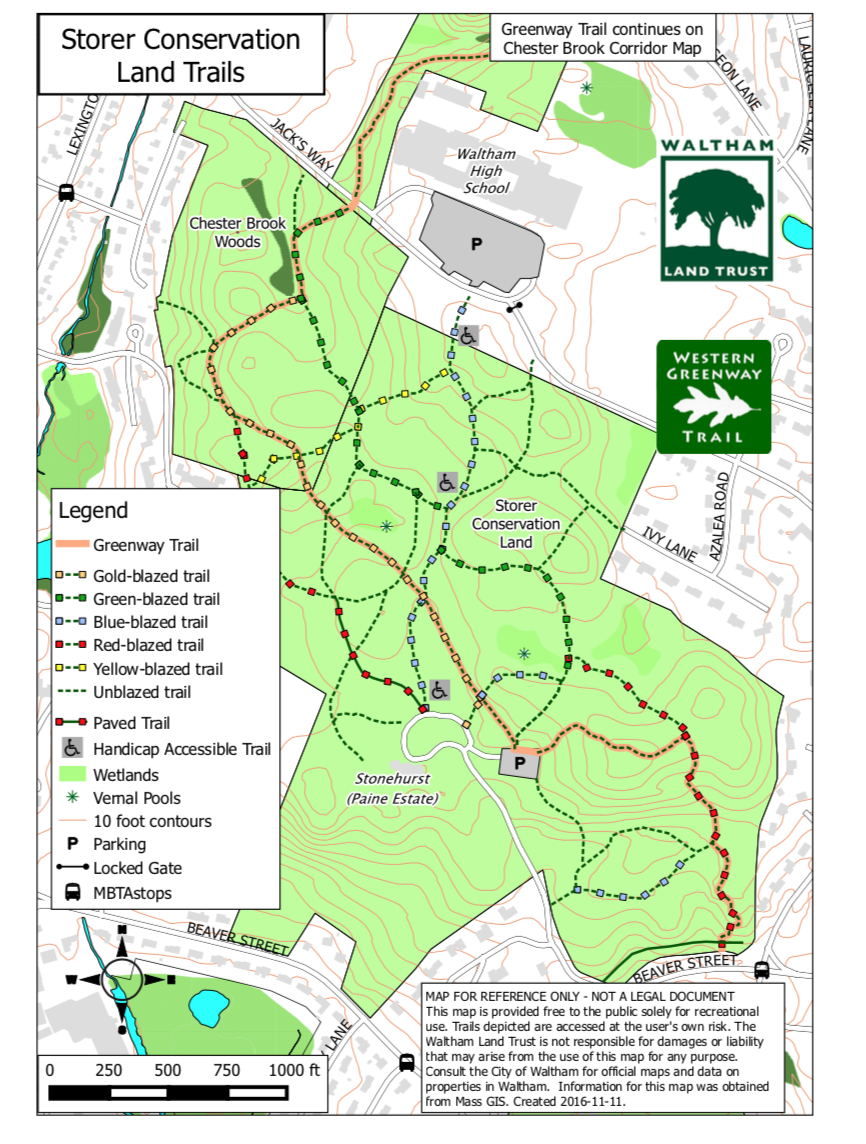 Storer Conservation Land Trail Map