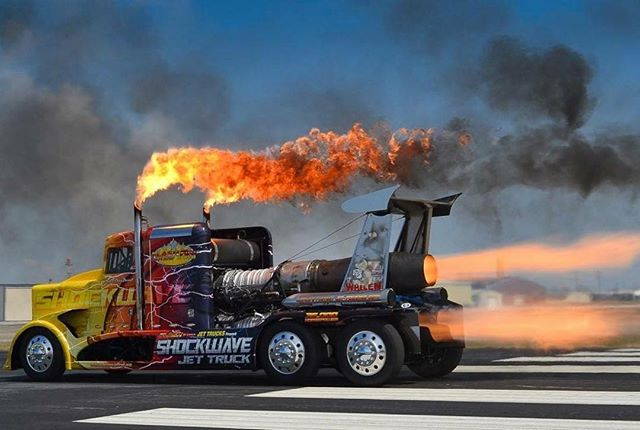 Sending shockwaves across the country... the SHOCKWAVE Jet Truck will blast onto the scene for the show! 🔥 This is not your typical semi... it's loaded with not one, not two, but THREE huge engines that are originally from a USA Navy T2 Buckeye! This machine has a combined power of 36,000 horsepower and tops off at 376 MPH 😲 Watch it drag race the Lucas Oil airplane down the flight line... the only question is: who will win?