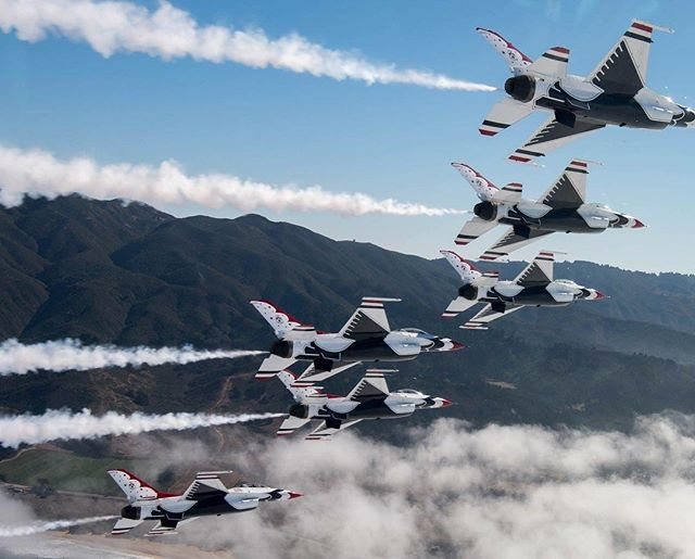 Fun Fact Friday 🎉 As you sip your morning coffee, think about this: the F-16 Fighting Falcons operated by the U.S. Air Force Thunderbirds are capable of pulling over 9 Gs -- that's 9 times the force of gravity. At that rate, your cup of joe would feel like it weighed over 4 lbs ☕ (and your average bag of groceries would feel like over 90 lbs!)