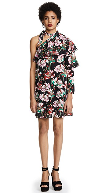 -  Floral Pleat Sleeve Dress  CA$30.17