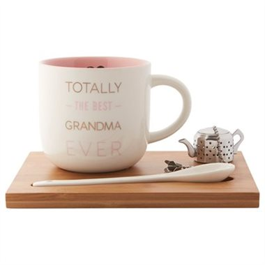 -  SIMPLE TEA SET – TOTALLY THE BEST GRANDMA EVER$18 CAD