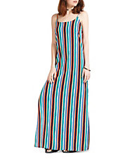 - CALIFORNIA MOONRISE Striped Side Slit Dress $24.99
