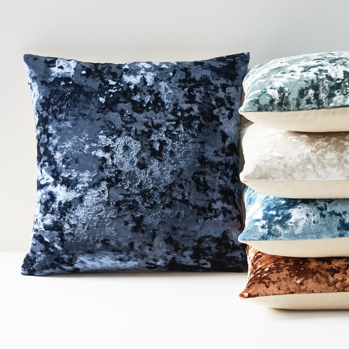 - Pressed Velvet Pillow Covers $23These are from West Elm and they add a modern yet cozy look to any livingroom!