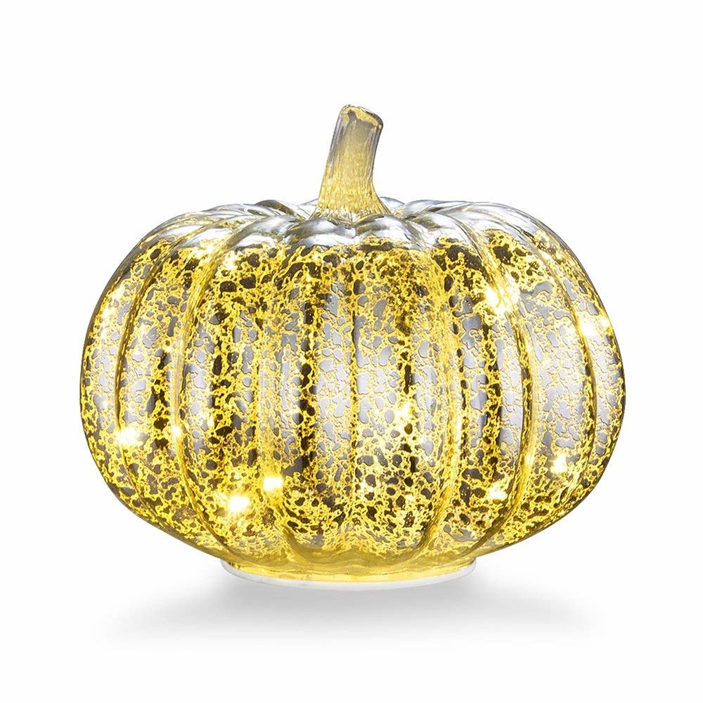 - Mercury Glass Pumpkin $25This is the cutest pumpkin with a touch of elegance. Available on Amazon.